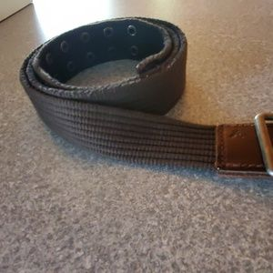 Mens canvas AE belt reversible olive green & black